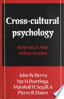 Cross Cultural Psychology Book
