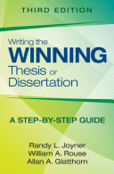 Writing The Winning Thesis Or Dissertation