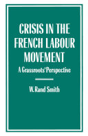Pdf Crisis in the French Labour Movement Telecharger