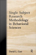 Single Subject Research Methodology in Behavioral Sciences Book PDF