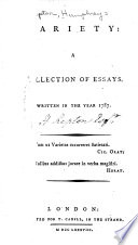 Variety  a Collection of Essays Book