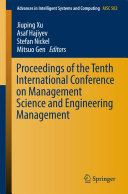 Proceedings of the Tenth International Conference on Management Science and Engineering Management Pdf/ePub eBook