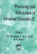 Processing And Fabrication Of Advanced Materials Ix Book PDF