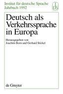 Deutsch als Verkehrssprache in Europa