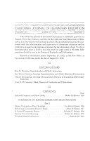 California Journal of Elementary Education