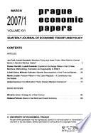 Prague Economic Papers
