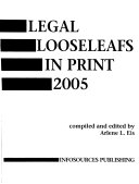 Legal Looseleafs in Print Book