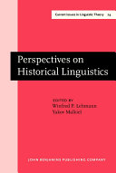 Perspectives on Historical Linguistics