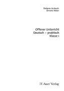 Offener Unterricht Deutsch - praktisch Klasse 1
