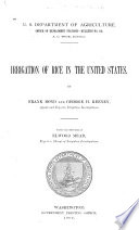 Irrigation of Rice in the United States Book