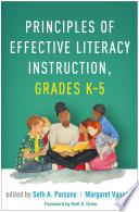 Principles of Effective Literacy Instruction  Grades K 5