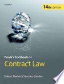 Poole s Textbook on Contract Law Book PDF