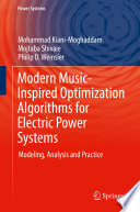 Modern Music Inspired Optimization Algorithms for Electric Power Systems Book