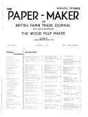 Paper Maker and British Paper Trade Journal