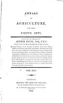 Annals of Agriculture  and Other Useful Arts