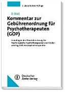 Kommentar zur Gebührenordnung für Psychotherapeuten