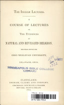 A Course of Lectures on the Evidences of Natural and Revealed Religion