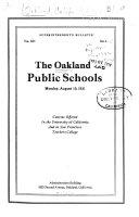Oakland Public Schools Superintendent S Bulletin