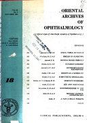 Oriental Archives Of Ophthalmology Book PDF
