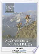 Accounting Principles 10th Edition Volume 1 for Queensborough Community College