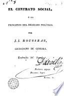 El Contrato social  : ó sea principios del derecho político