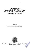 Input in second language acquisition