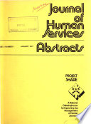 Journal Of Human Services Abstracts