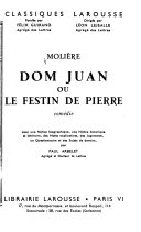 Don Juan, ou, Le festin de Pierre