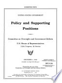 Policy and Supporting Positions, [Committee Print], December 1, 2012, *.