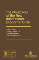 The Objectives of the New International Economic Order Pdf/ePub eBook