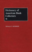 Dictionary Of American Book Collectors