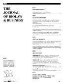 The Journal of Biolaw   Business Book