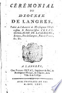 Cérémonial du diocese de Langres