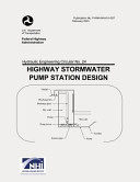 Highway Stormwater Pump Station Design Book PDF