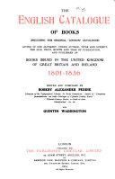 The English Catalogue of Books  v   1   1835 1863