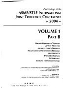 Proceedings of the ASME/STLE International Joint Tribology Conference