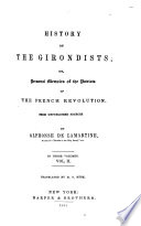History of the Girondists Book