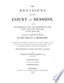 The Decisions of the Court of Session Book PDF