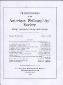 Proceedings, American Philosophical Society (vol. 94, no. 4)