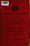 Pdf The Royal Guide to the London Charities