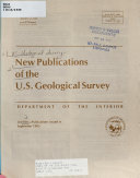 New Publications of the U S  Geological Survey