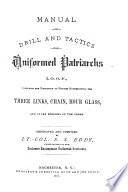 Manual of Drill and Tactics for Uniformed Patriarchs  I O O F