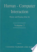 """Human-Computer Interaction: Theory and Practice"" by Julie Jacko, Constantine Stephanidis"