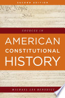 Sources in American Constitutional History