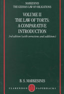 The German Law of Obligations: The law of torts: a comparative introduction