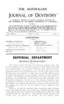 The Australian Journal of Dentistry