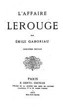 L' affaire Lerouge par Émile Gaboriau