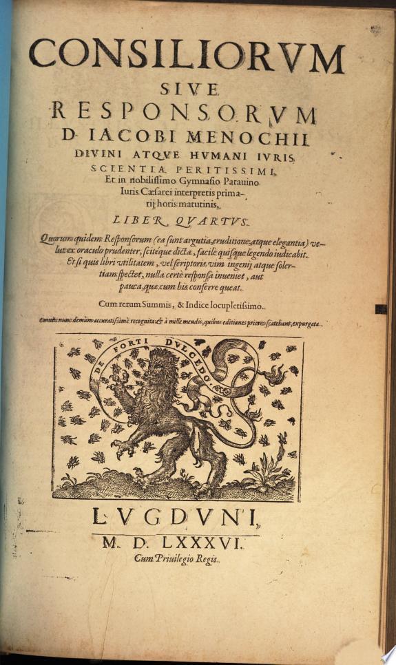 Consiliorum sive Responsorum libri quatuor