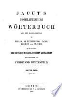Geographisches Wörterbuch aus den Handschriften zu Belin, St. Petersburg, Paris, London and Oxford