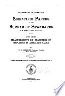 Scientific Papers Of The National Bureau Of Standards